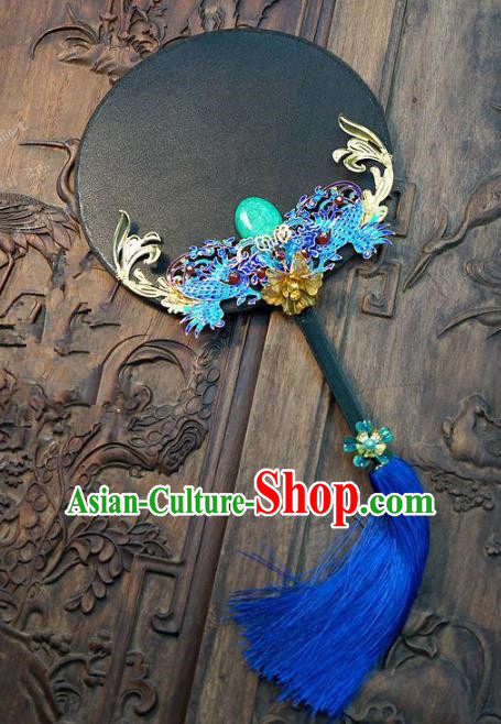 Chinese Handmade Classical Stage Performance Fans Ancient Palace Lady Round Fans for Women