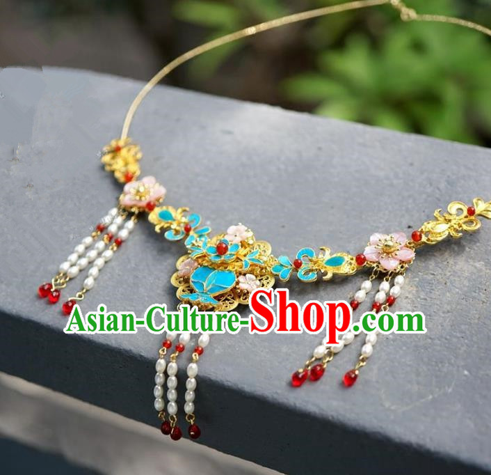 Asian Chinese Traditional Handmade Jewelry Accessories Bride Necklet Hanfu Necklace for Women