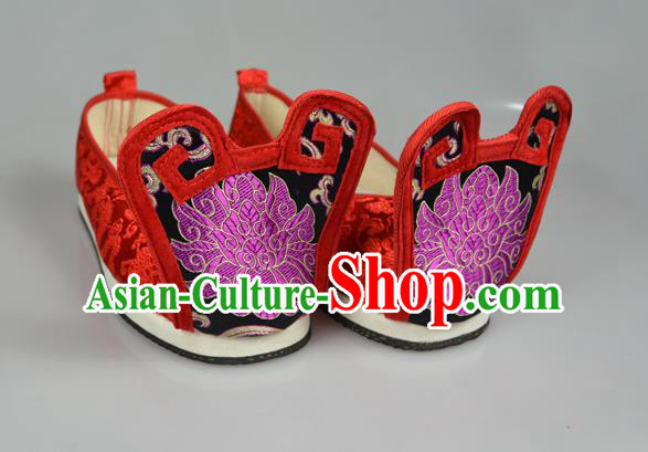 Asian Chinese Wedding Shoes Embroidered Shoes, Traditional China Princess Shoes Bride Hanfu Shoes
