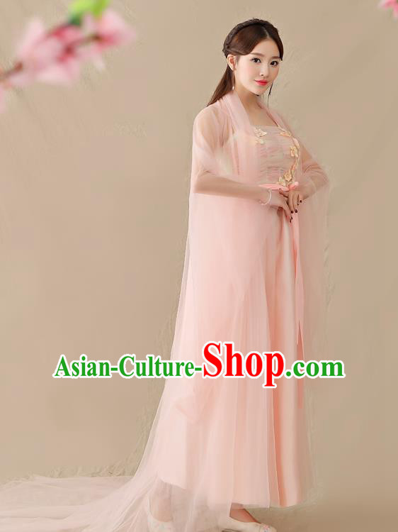 Traditional Chinese Ancient Palace Lady Fairy Costume, China Tang Dynasty Princess Hanfu Clothing for Women