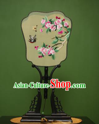 Traditional Chinese Crafts Embroidered Butterfly Flowers Silk Fan, China Palace Fans Princess Square Fans for Women