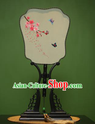 Traditional Chinese Crafts Embroidered Silk Fan, China Palace Fans Princess Square Fans for Women