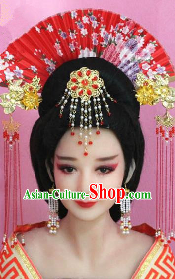 Traditional Chinese Ancient Imperial Concubine Hair Accessories, China Bride Xiuhe Suit Hairpins Headwear for Women