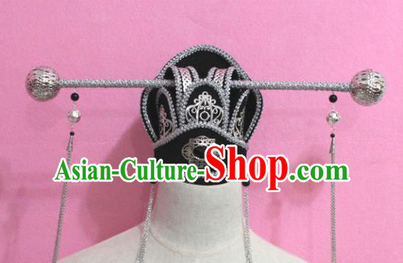 Traditional Chinese Handmade Ancient Minister Tassel Hat for Men