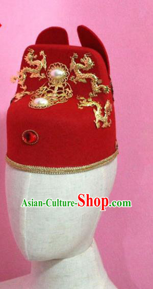 Traditional Chinese Handmade Hair Accessories Ancient Ming Dynasty Bridegroom Hat Headwear for Men