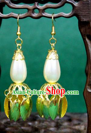 Traditional Chinese Handmade Jewelry Accessories Xiuhe Suit Bride Pearl Earrings Hanfu Eardrop for Women