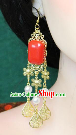 Traditional Chinese Handmade Jewelry Accessories Xiuhe Suit Bride Earrings Hanfu Eardrop for Women