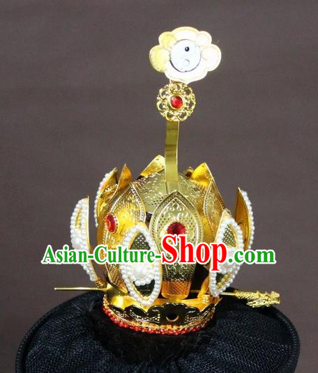 Traditional Chinese Handmade Hair Accessories Ancient Prince Hairdo Crown Headwear for Men