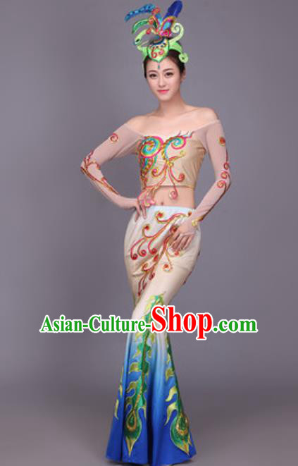 Chinese Traditional Dai Nationality Dance Costume Peacock Dance Dress for Women