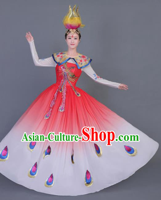 Professional Opening Dance Costume Stage Performance Classical Dance Chorus Dress for Women