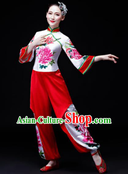 Chinese Traditional Classical Dance Costume Folk Dance Fan Dance Yangko Clothing for Women