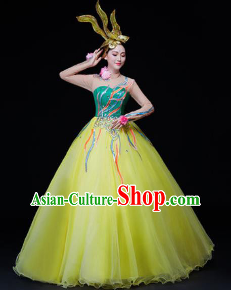 Professional Opening Dance Modern Dance Chorus Costume Stage Performance Veil Dress for Women