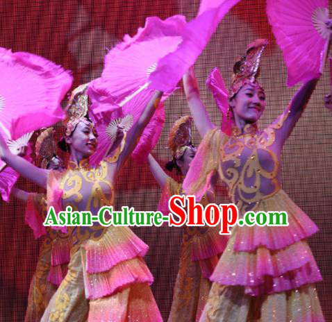 Chinese Traditional Folk Dance Costume Fan Dance Classical Dance Dress for Women