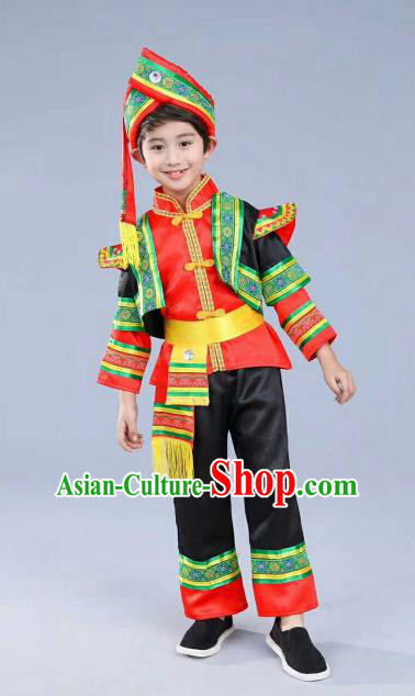 Chinese Traditional Miao Nationality Dance Costume Folk Dance Ethnic Clothing for Kids