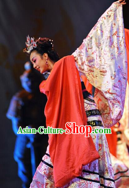 Chinese Traditional Folk Dance Costume Ancient Classical Dance Hanfu Clothing for Women