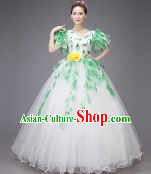 Professional Modern Dance Dress Opening Dance Stage Performance Chorus White Veil Costume for Women