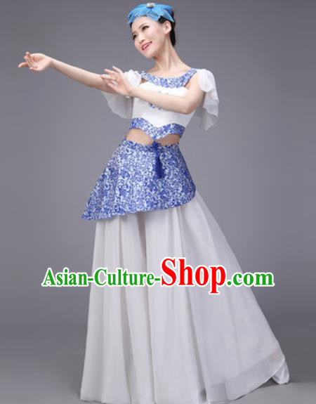 Chinese Classical Dance Umbrella Dance Costume Traditional Folk Dance Clothing for Women