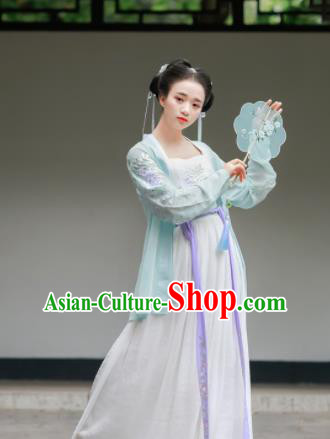 Chinese Traditional Song Dynasty Costumes Ancient Maidenform Hanfu Dress for Women