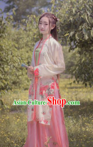 Chinese Traditional Ancient Costumes Song Dynasty Palace Lady Hanfu Dress for Women
