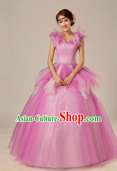 Top Grade Chorus Compere Costume Modern Dance Ballroom Waltz Stage Performance Dress for Women