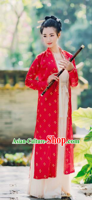 Traditional Chinese Song Dynasty Young Lady Replica Costumes Ancient Maidenform Hanfu Dress for Women