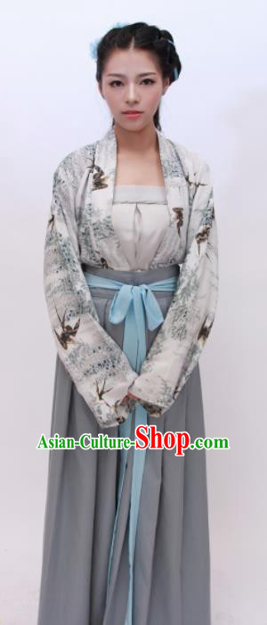 Chinese Traditional Ancient Costumes Tang Dynasty Princess Hanfu Dress for Women
