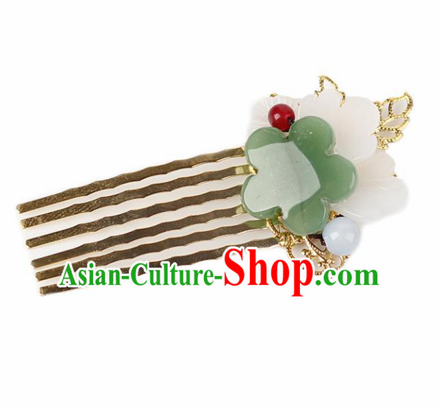 Chinese Ancient Hanfu Hair Accessories Traditional Jade Hair Comb Hairpins for Women