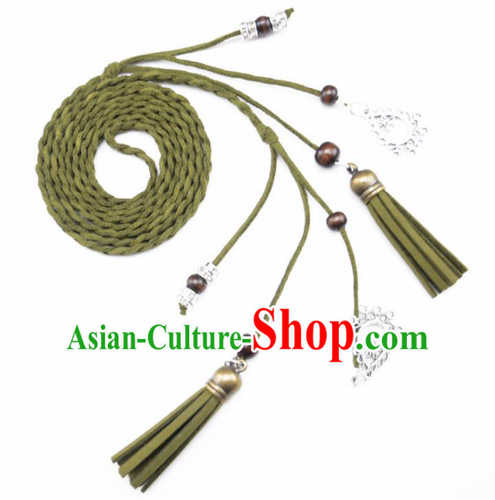 Chinese Ancient Hanfu Hair Accessories Traditional Swordswoman Green Hair Band  for Women