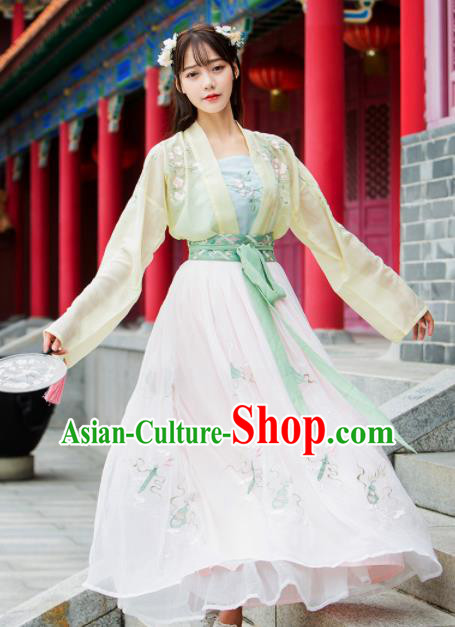 Ancient Chinese Song Dynasty Princess Historical Costumes Nobility Lady Hanfu Dress for Women
