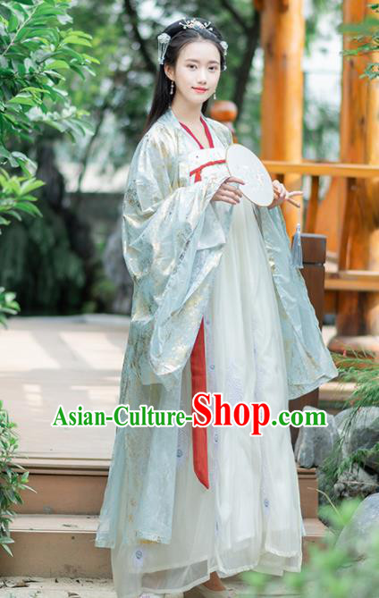 Ancient Chinese Tang Dynasty Historical Costumes Imperial Consort Embroidered Hanfu Dress for Women