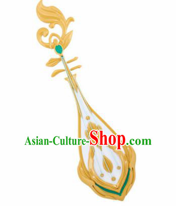Chinese Traditional Cosplay Props Ancient Swordswoman Weapon Lute for Women