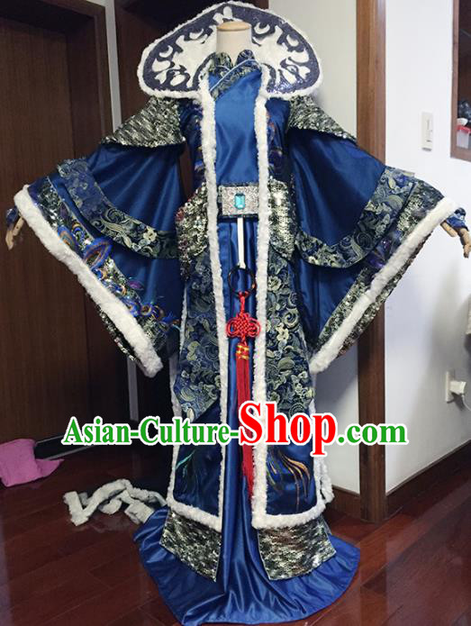 Top Grade Chinese Ancient Cosplay Swordsman Royal Highness Costumes for Men