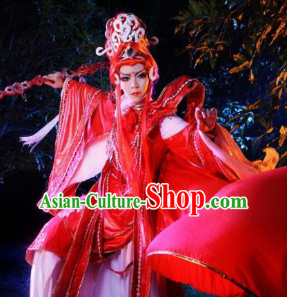 Top Grade Chinese Ancient Cosplay Nobility Childe Swordsman Red Costumes for Men