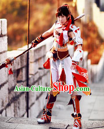 Top Grade Cosplay Assassin Costumes Chinese Ancient Female Swordsman Dress for Women