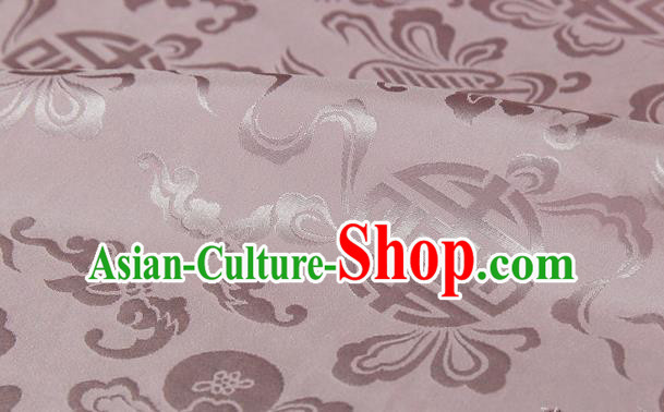 Asian Chinese Traditional Pink Silk Fabric Ancient Hanfu Jacquard Brocade Fabric Drapery Material