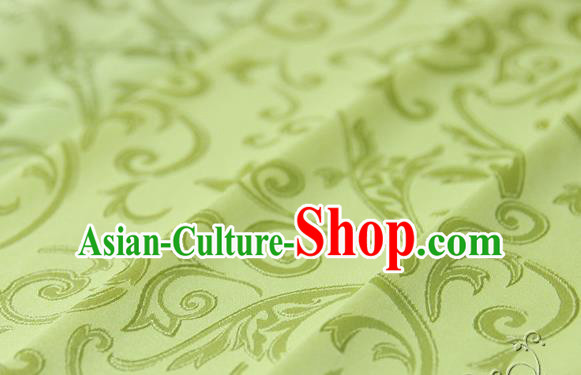 Asian Chinese Traditional Jacquard Silk Fabric Ancient Hanfu Yellow Brocade Fabric Drapery Material