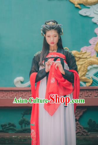 Chinese Ancient Peri Hanfu Dress Tang Dynasty Imperial Consort Costumes for Women