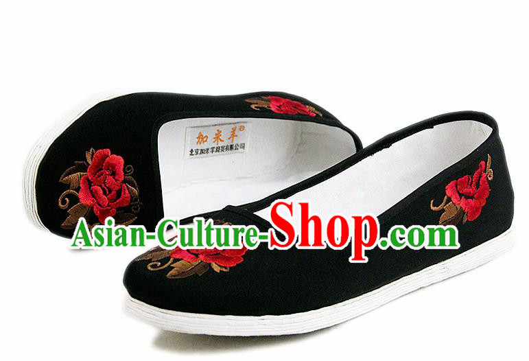 Chinese National Shoes Traditional Cloth Shoes Linen Shoes Embroidered Shoes