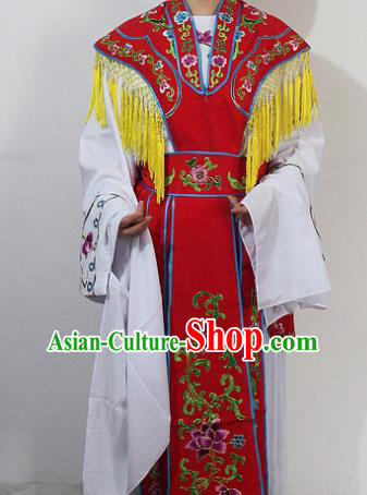 Chinese Traditional Peking Opera Diva Costumes Ancient Princess Embroidered Red Clothing for Women