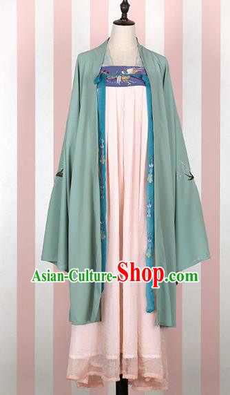 Chinese Ancient Tang Dynasty Imperial Consort Hanfu Dress Traditional Embroidered Costumes for Women