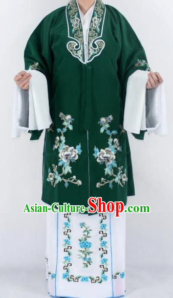 Chinese Traditional Peking Opera Actress Costumes Ancient Nobility Lady Green Cloak for Women