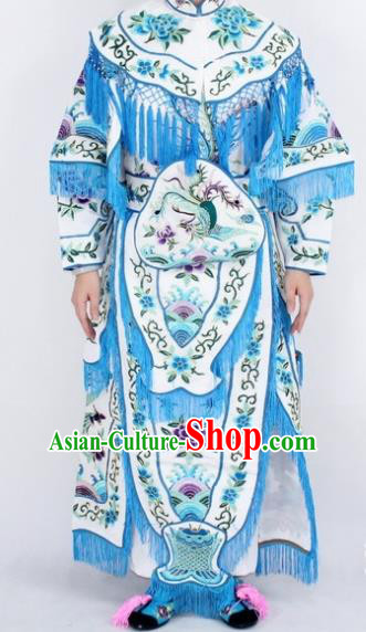 Chinese Traditional Peking Opera White Costumes Ancient Female General Dress for Women