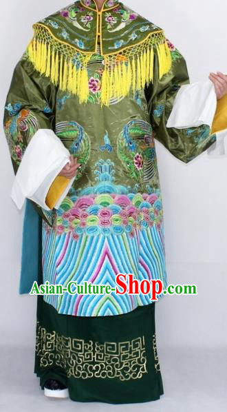Chinese Traditional Peking Opera Pantaloon Costumes Ancient Countess She Saihua Embroidered Robe for Women