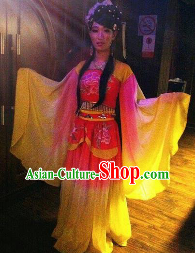 Chinese Classical Dance Stage Performance Costumes Ancient Tang Dynasty Princess Hanfu Dress for Women
