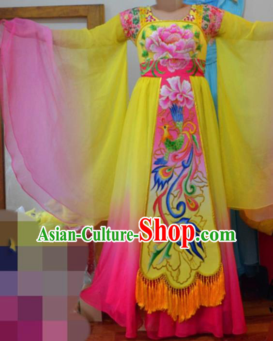 Traditional Chinese Classical Dance Embroidered Costumes Ancient Imperial Consort Hanfu Dress for Women