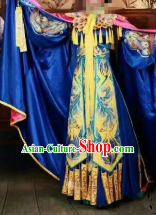 Traditional Chinese Beijing Opera Costume Ancient Imperial Consort Embroidered Hanfu Dress for Women