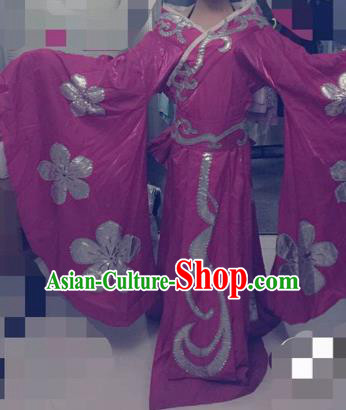 Traditional Chinese Ancient Fairy Embroidered Purple Hanfu Dress Tang Dynasty Imperial Consort Historical Costumes for Women