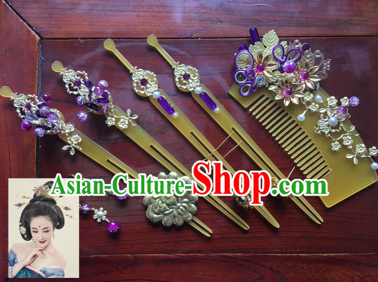 Ancient Style Hair Jewelry Complete Set