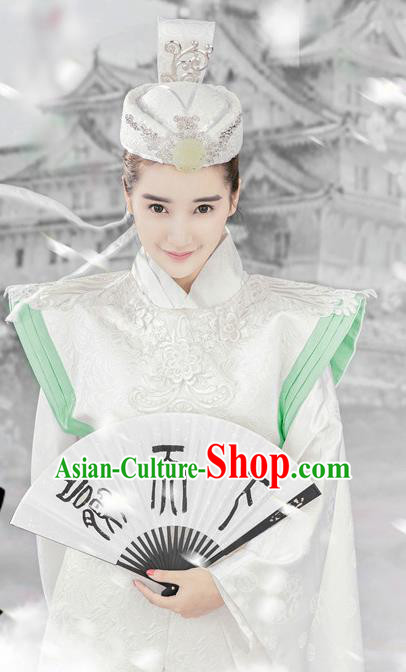 Traditional Chinese Ancient Qin Dynasty Swordswoman Embroidered Costumes for Women