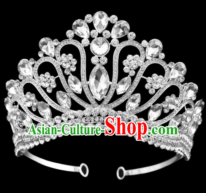 Top Grade Hair Jewelry Accessories Royal Crown Headwear Headdress for Women